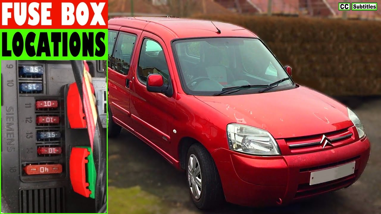 Citroen Berlingo Fuse Box Locations And How To Check Fuses