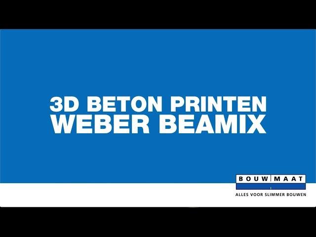 3D beton printen bij Weber Beamix
