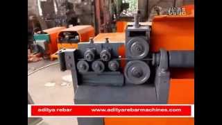 cnc rebar two head straightner cum bending machine