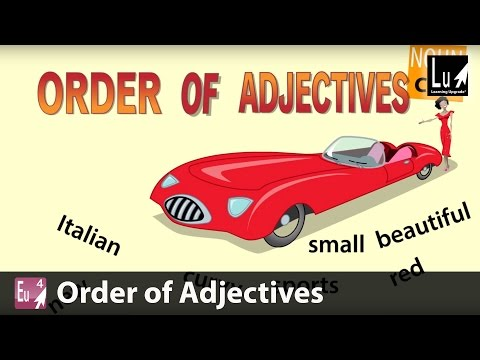 Order of Adjectives Song – Learn Grammar – Learning Upgrade App