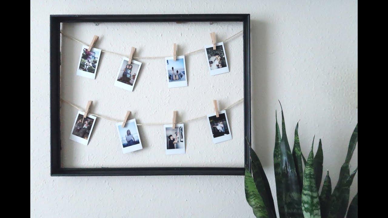 DIY Inexpensive Polaroid Frame - YouTube