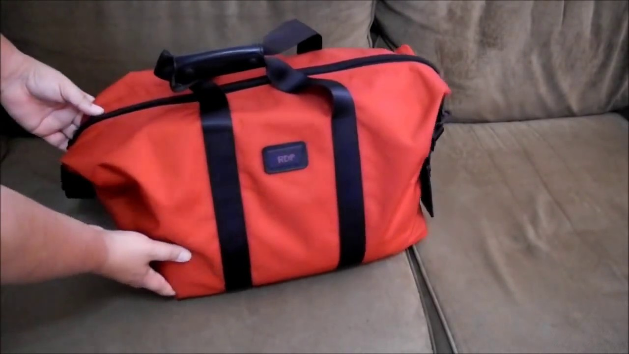Tumi small satchel bag duffel red ballistic
