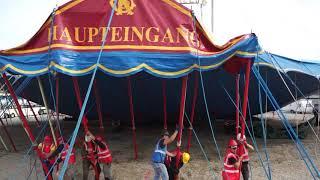 Circus Roncalli München 2017: Aufbau des Zirkuszelts am 04.10.2017