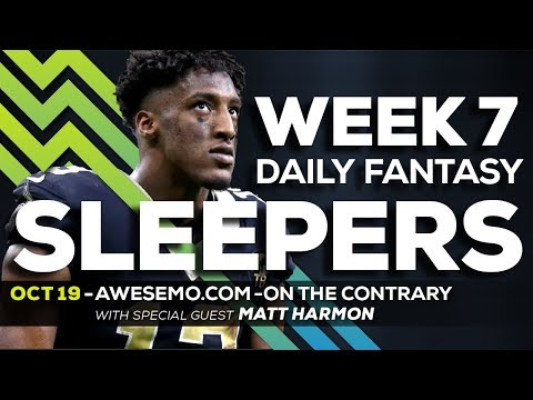 NFL DFS PICKS - WEEK 7 ON THE CONTRARY - 2019 FANTASY FOOTBALL PICKS - SPONSORED BY FANTASYDRAFT