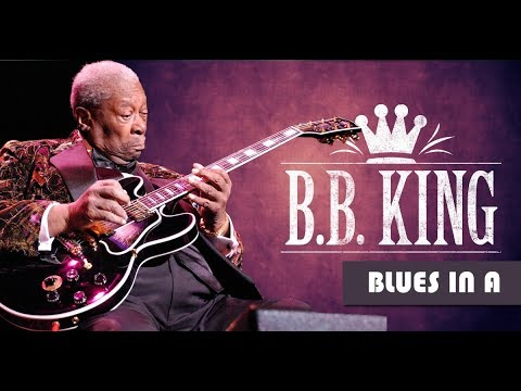 B.B. King Style Slow Blues Backing Track Jam in A