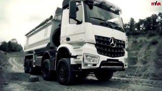 Mercedes Arocs 8x4 wywrotka tipper w kopalni