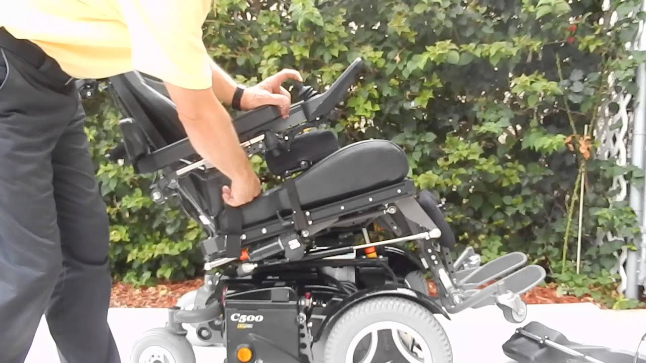 Permobil C500 VS Standing Power Chair Fully Loaded Stands You Up