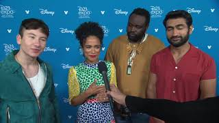 Barry Keoghan Lauren Ridloff Kumail Nanjiani Brian Tyree Henry Interview Eternals