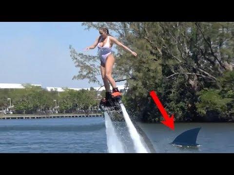 Olivia Austin Shark Fin Gag Flyboard