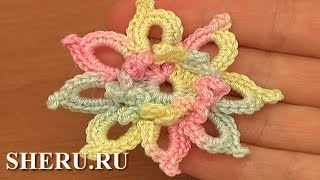 Free Crochet Flower Patterns Урок 85 Цветок крючком