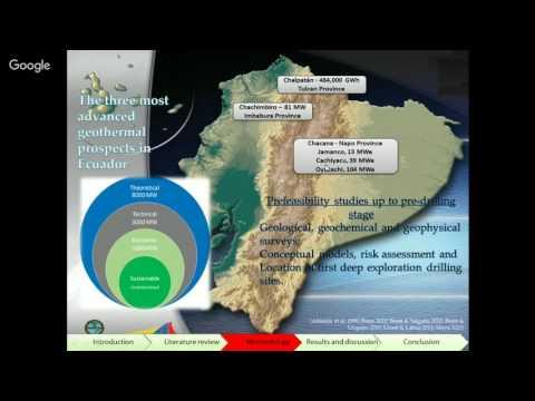 Geothermal potential in Ecuador