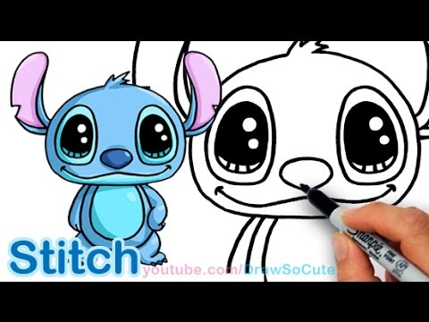 How To Draw Disney Stitch Cute And Easy Step By