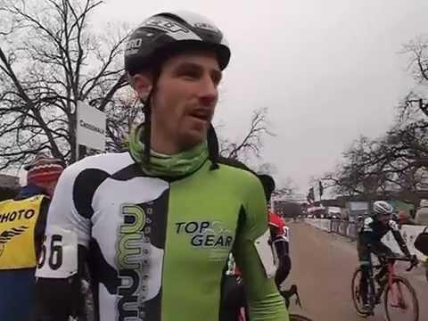 Winner of the 30-34 men's race, Ryan Woodall