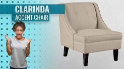 Ashley Furniture Signature Design -Clarinda Accent Chair - Wingback - Modern - Choose Color