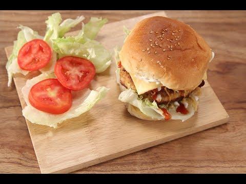 Cheese Stuffed Burger   The Food Hippie   Sanjeev Kapoor Khazana