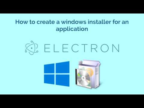 How to create a windows installer for an application built with Electron Framework