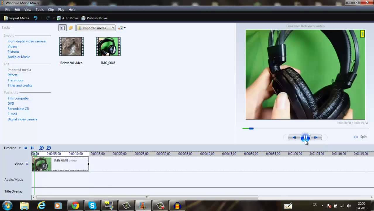 how to add green screen in windows movie maker