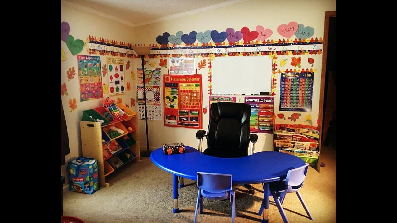 Our Homeschool Room Tour Prek4 Preschool