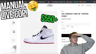 MANUAL LIVE COP: Clot x Air Jordan 1 Edison Chen! | Queue Bypass Failure.... | $600 SHOE!