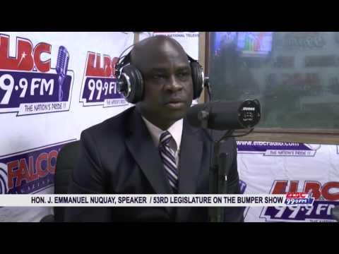 THE BUMPER SHOW HOSTS HOUSE SPEAKER HON. J. EMMANUEL NUQUAY