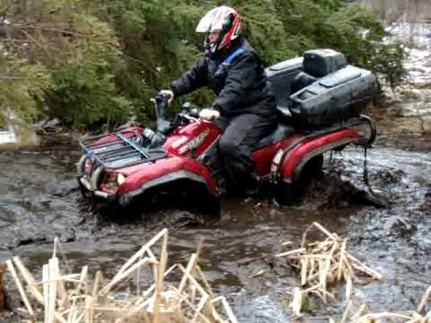 yamaha grizzly 660 with tracks youtube