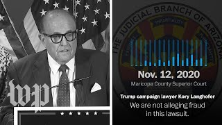 Trump campaign lawyers undermine the campaign's election fraud claims
