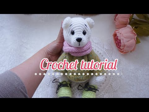 Baby Knitting Patterns Amigurumi Crochet Fluffy White Teddy Bear ... | 360x480