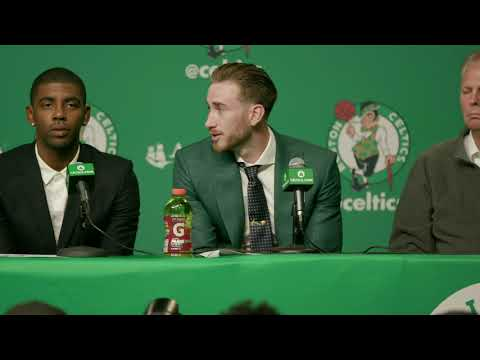The Boston Celtics Introduce Kyrie Irving and Gordon Hayward!