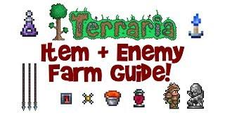 Flexible Terraria Item/Enemy Farm Guide! (AFK farm, lava, trap & statue farm tutorial)