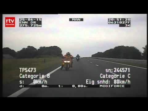 Politiecamera legt Duitse snelheidsduivels op de N33 vast