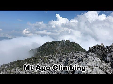 Climbing Mt Apo. The Highest Mountain Of Philippines
