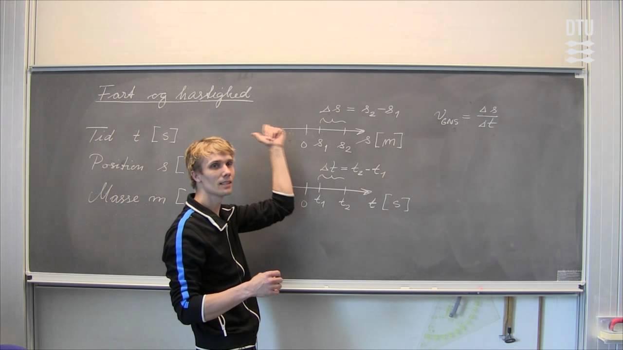 Fysik: Fart og hastighed (repetition)