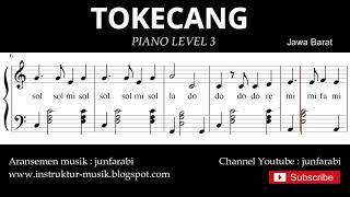 notasi balok tokecang - piano grade 3 - lagu daerah jawa barat - instrumental