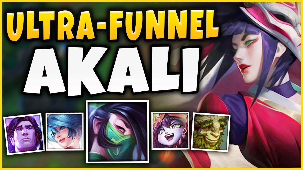 THIS NEW *ULTRA-FUNNEL* STRATEGY IS 100% UNBEATABLE! S9 AKALI BOOSTING STRATEGY! - League of Legends