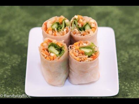 Vegetarian Fresh Spring Rolls (Bi Cuon Chay)