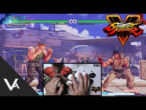 Street Fighter V Guile - How To Do Sonic Boom Or Flash Kick Into Super