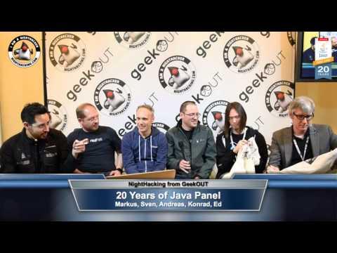 20 Years of Java Panel