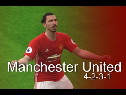FORMATION TIPS PES 2017 // 4-2-3-1 MANCHESTER UNITED 2016/17