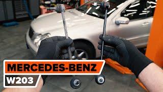 Kā nomainīt aizmugurējie stabilizatora atsaite MERCEDES-BENZ W203 C-Klase [AUTODOC VIDEOPAMĀCĪBA]