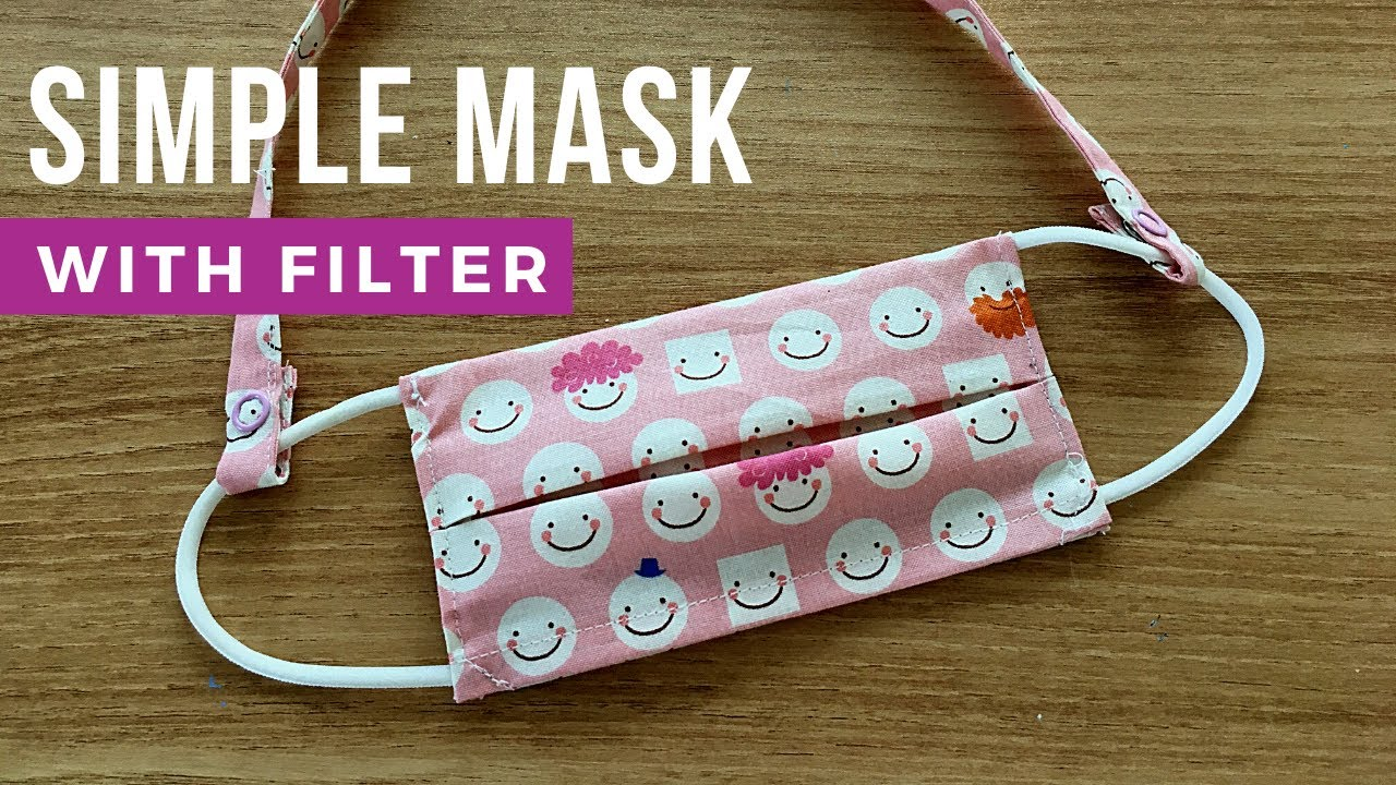 Face Mask Sewing Tutorial  How to make Face Mask with Filter Cómo hacer mascarilla 한장으로 만드는 필터교체 마스크