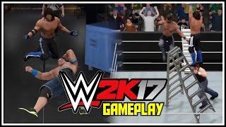 wwe 2k17 gameplay backstage brawl ladder match gameplay w thoughts wwe 2k17 ps4 xb1