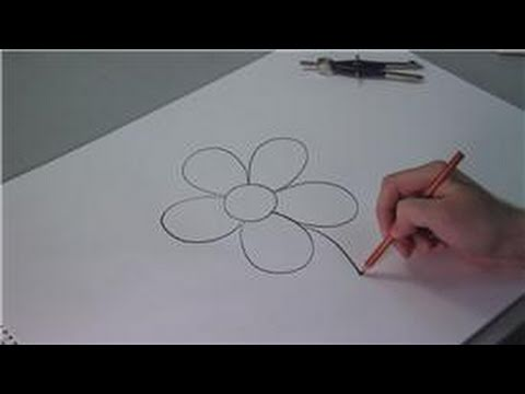 Drawing Lessons How To Draw Simple Flowers For Kids Youtube