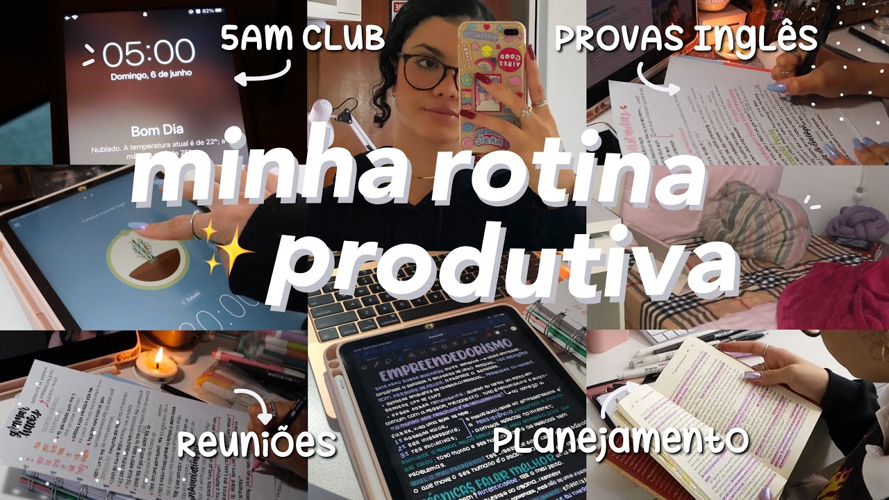 rotina durante a quarentena: *5am club* | hábitos produtivos, anotações & estudos ✨