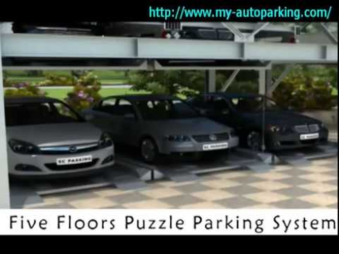 (Motor and Wire Rope) Five Floors Automatic Puzzle Parking System