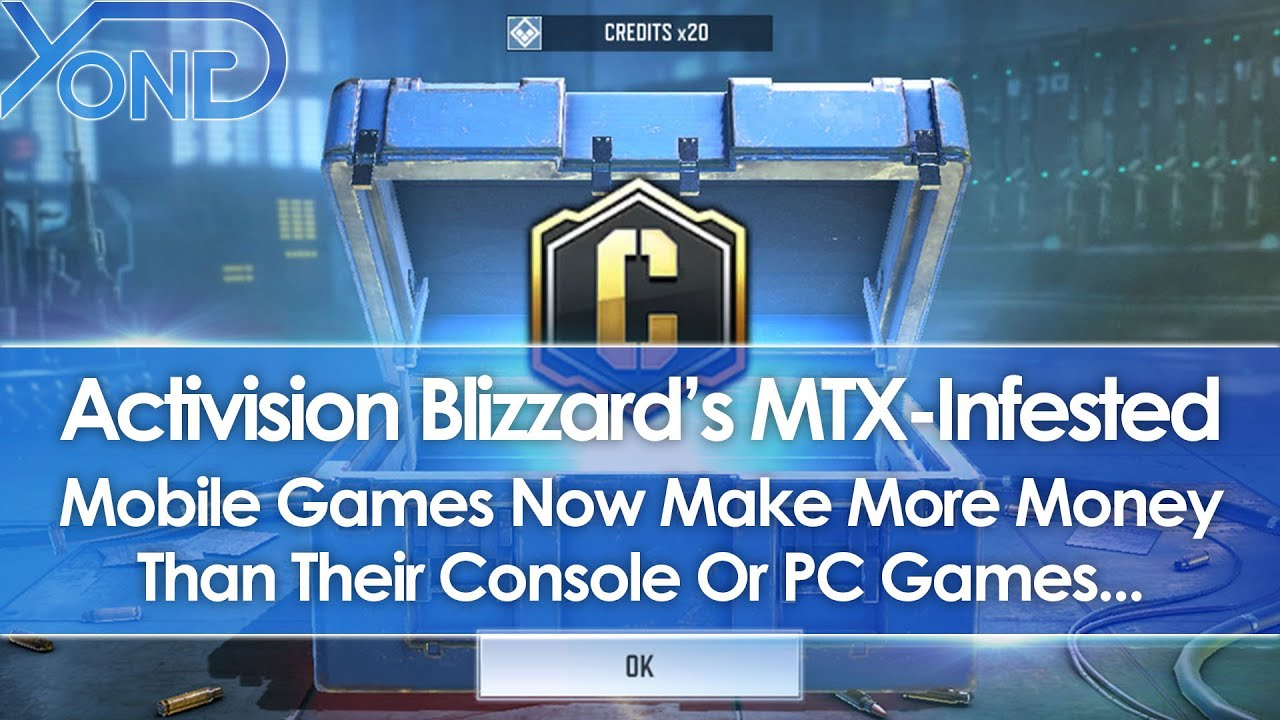 Activision Blizzard's MTX-Infested Mobile Games Now Make More Money Than Console Or PC Games