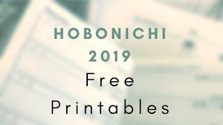 Hobonichi Weeks Free Printables 2019