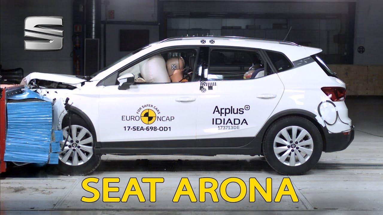seat arona crash test euro ncap youtube. Black Bedroom Furniture Sets. Home Design Ideas