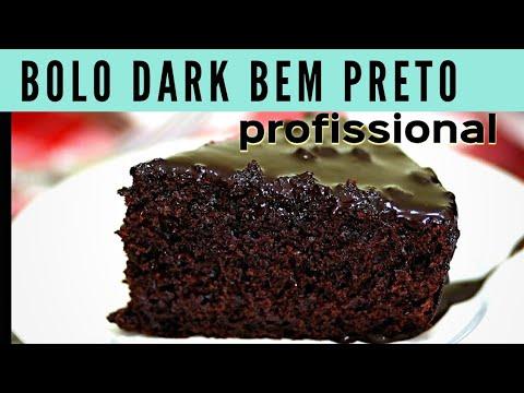 Bolo Dark Profissional Umido E Preto Maravilhoso Youtube