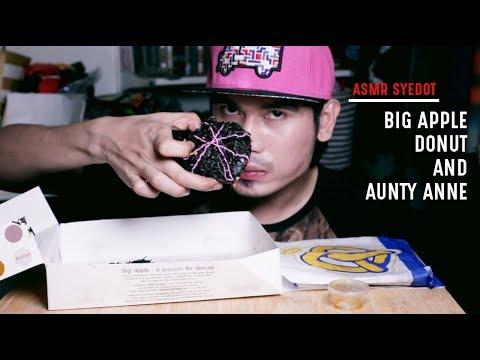 ASMR & MUKBANG: BIG APPLE DONUT & AUNTY ANNE (EATING SOUND)
