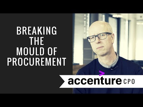 Breaking the mould in Procurement with Accenture CPO